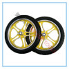 16 Inch PU Foam Tour Bicycle Tyre with Yellow Aluminum Rim