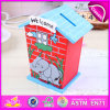 2015 New Wooden Saving Box for Kids, Wooden Toy Money Saving Box for Children, High Performance Coin Saving Box for Baby W02A027