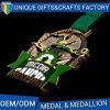 Custom Made Soccer Medal for Green Ribbon