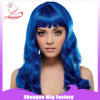 BSCI Fashion Long Blue Color Wig for Party Supplies Synthetic Party Wigs (SN0002)