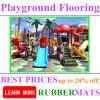 Safety Kids Playground Rubber Flooring Mat Kindergarten Outdoor Play Area