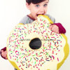 Doughnut Stuffed Cookie Shaped Baby Pacify Pillow
