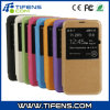 PU Leather Case with Display Hole for Samsung S5/I9600