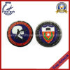 School Souvenir Coin with Soft Enamel, Flower Edging