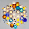Modern Meteor Shower Colorful Magic Ball Blown Glass Bubble 12V G4 LED Pendant Light