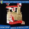 Custom Race Awards Metal Gold Plating Medal with Ribbon