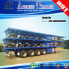 4 Axles 80 Tons Flatbed Semi Trailer, High Bed Trailer