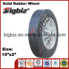 Black Colour 10 Inch for Sale Solid Rubber Wheel