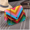 Factory Sale New Fashion Style Stripe Lady PU Leather Bag