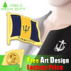 Laser Print Promotional Flag Pin Badge with Safety Pin Light