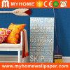 Blue Plain Design Wallpaper Wallcovering for Commercial Restaurant