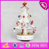 2015 Sales Promotion Wooden Music Box, White Christmas Musical Carousel Music Box, Wholesale Cheap White Wooden Music Toy W07b007c
