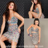 Spaghetti Straps Crystal Prom Party Gowns Mini Cocktail Evening Dresses Z9043
