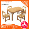 New Kid Wooden Furniture Desk and Chair for Four