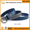 Hot Sale New Arrival PU Belt Blue Silve Metal Fashion Belt