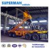 Two Axle 20ft Skeleton Container Dumper Semi Truck Trailer/Tipper Trailer