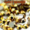 Glass Crystal Gold Hematite Dorado Flatback Rhinestones (FB-ss20 dorado)