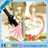 Customized Resin Couple Wine Holder with Cups