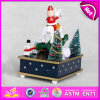 Carton Design 2015 Wooden Music Box, Christmas Battery-Power Decorative Music Box, Christmas Wooden Rotatable Music Toy W07b014c