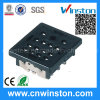 Miniature Square Type PCB Mouting Electro-Magnetic Power Relay Socket