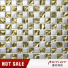 Silver and Gold Color Glass Mix Metal Plating Mosaic