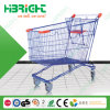 Powder Coated European Style Supermarket Shopping Trolley