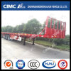 3axle Flatbed Semi Trailer with Front Fence
