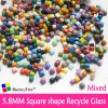 5.8mm Mini Square Shape Recycle Glass Mixed Colour Mosaic Tesserae Loose Mosaic Art Hobbies Craft ...