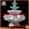 Marble Sculpture Classic 4 Tire Fountain for Garden Decoration