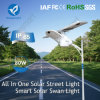 15W-80W Solar Products Motion Sensor Integrated Outdoor LED Street Garden Rechargeable Light