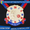 Custom-Made 3D Hard Enamel Gold Medallion with Logo
