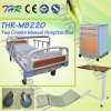 2-Crank Medical Manual Bed with Dining Table (THR-MB220)