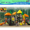 Orange Plastic and Steel Structure Kids Outdoor Playground (HD-1301)