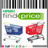 Supermarket Plastic Shopping Trolley with Metal Foot