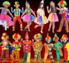 Kids Carnival Clown Jester Cosplay Suit Costumes for Halloween Christmas Birthday Party, Various Designs