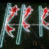 LED Street Pole Ribbon Motif Light for City Street Decoration