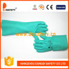 Ddsafety Long Cuff High Comfort Chemical Resistant Gloves Green Nitrile Gloves