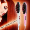 Professional Electric Fast Ceramic Nasv Hair Straightener Brush with LCD Display