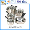 10 Piece Stainless Steel Deluxe Cookware Set (CX-SS1003)
