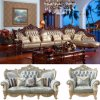 Wood Leather Corner Sofa for Living Room Furniture (807)