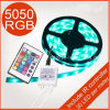 5m 30 LEDs/M Waterproof 150LEDs Flexible RGB SMD 5050 LED Strip Light Remote Controller