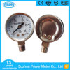 40mm Chromeplated Steel Pressure Gauge 1MPa Bottom for Sale