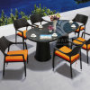 Outdoor Rattan Dinner Table Chair Sets Wiker Furniture