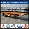 Hot Sale Cimc Huajun 40FT 2axle Flatbed Semi Trailer