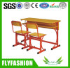 Wooden Double School Student Desk and Chair (SF-20D)
