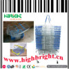 Zinc Plated Supermrket Steel Wire Portable Shopping Basket
