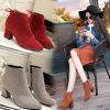 Fashion Winter Boots Direct Female Pointed Heels Boots Large Size 34-45 Coarse Scrub Martin Boots Wholesale