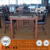 Square Bar Table Marble Top Table Wooden Furniture
