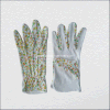 Floral Cotton Garden Glove with Mini PVC Dots on Palm (2216)