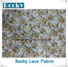 Hot Sale Beauty Print Polyester Lace Fabric